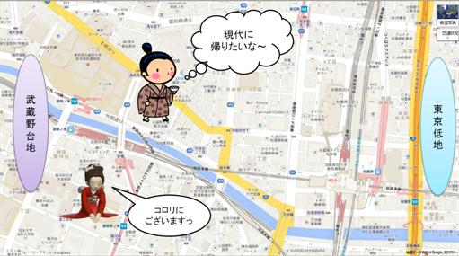 東京低地を望む仁